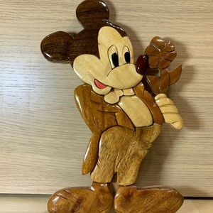 Disney Mickey Mouse Holding Flower